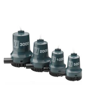 Submersible/bilge pump 1900 L/h (500 G/h) - 24 V, hose 19 mm