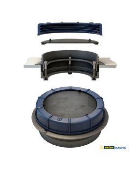 Inspection port with flange-in-ring - universal post for diesel, water, and wastewater tanks