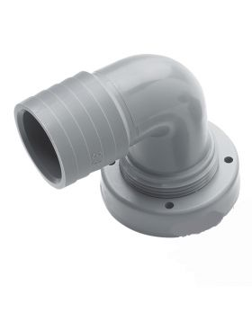 Hose connection, Ø38 mm, right angle, for rigid tanks