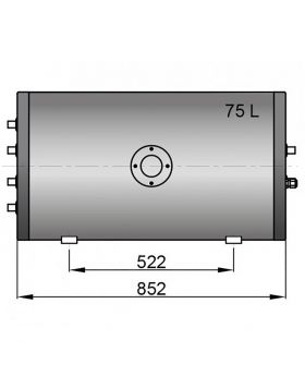 Twin coil calorifier 75 litre