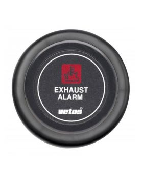 Dashboard instrument for exhaust temperature alarm 24 V, black (excl. sensor)