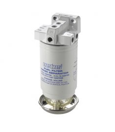 Water separator/fuel filter CE/ABYC, single, 10 micron, max. (380 l/h)