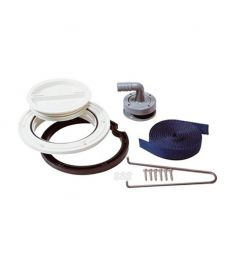 Fitting kit for plastic waste water tanks (excl. extraction pipe)