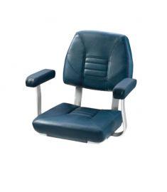 Skipper. Klassisk rorsmansstol med bekväma armstöd, dark blue