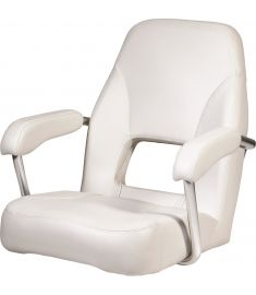 Sailor. Helm seat with armrests, white