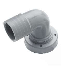 Hose connection, Ø38 mm, right angle, for flexible tanks