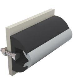 Vinyl rubbing strake, dark grey, HARO 50 x 34 mm, coil of 20 mtrs, (price per mtr)