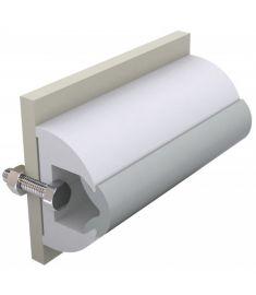 Vinyl rubbing strake, white, HARO 50 x 34 mm, coil of 30 mtrs, (price per mtr)