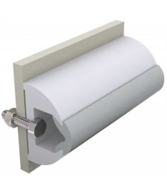 Vinyl rubbing strake, white, HARO 60 x 35 mm, coil of 30 mtrs, (price per mtr)