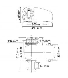 Horizontal Windlass - 12V - for 9-11 mm chain - 1200W - DCW/ SD (port)