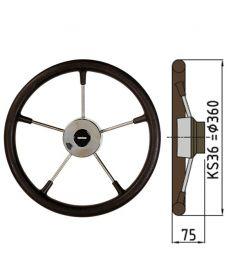 Steering wheel type KS with PU-foam layer - Ø36 cm - Black