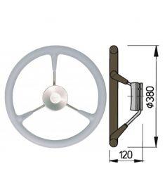 Steering wheel type KS with PU-foam layer - Ø38 cm - Grey