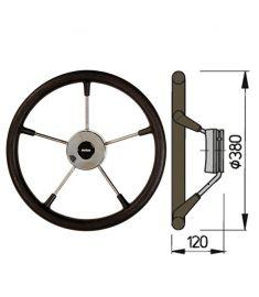 Steering wheel type KS with PU-foam layer - Ø38 cm - Black