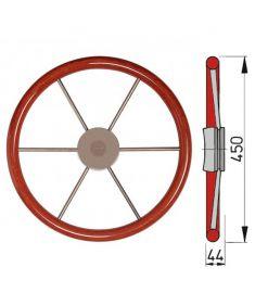 Steering wheel with mahogany rim, type KW - Ø45 cm