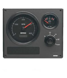 Engine panel type MP22 12 Volt, with black instruments