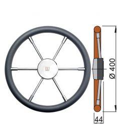 Polyurethane rim steering wheel type PRO - Ø40 cm
