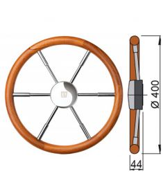 Teak steering wheel type PRO - 40 cm