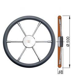 Polyurethane rim steering wheel type PRO -  Ø50 cm