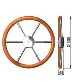 Teak steering wheel type PRO - Ø50 cm