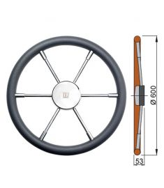 Polyurethane rim steering wheel type PRO - Ø60 cm