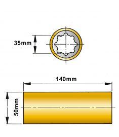ØA 35 mm x ØB 50 mm x C 140 mm - fenol resin