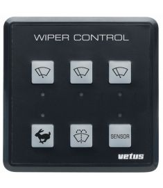 Windscreen wiper control panel for up to 3 wipers, 12/24 Volt, incl. controlpanel