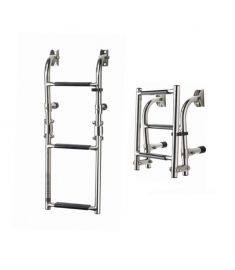 Folding ladders - transom mounted 3 steps - plastic grip