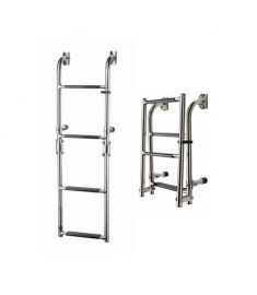 Folding ladders - transom mounted 4 steps - plastic grip