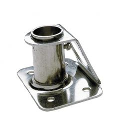 Stanchion socket - straight 90° - stainless steel