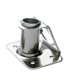 Stanchion socket vinklet 6° - stainless steel