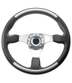 Vetus cruiser steering wheel, black with aluminium inserts