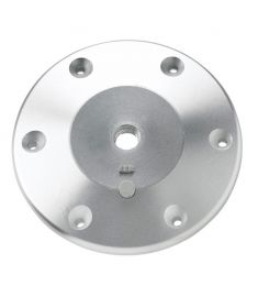 Table base with screw down connection, anodised