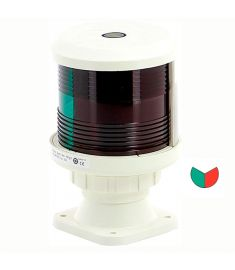 Bicolour light - red/green (base mounting) white (excl. bulb)