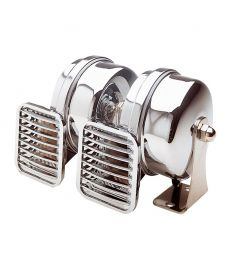 Compact double horn - 12 Volt - high and low pitch 500/410 HZ