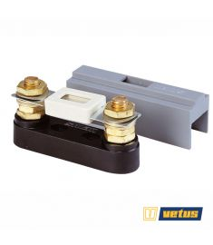 Fuse holder, type C100 including cover, suitable for fuses of 40 to 500 Amp.