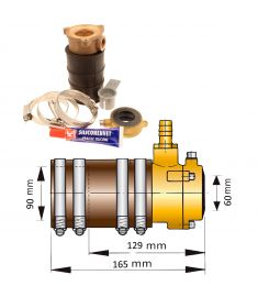 60mm self-aligning inner bearing with dual lip seal III